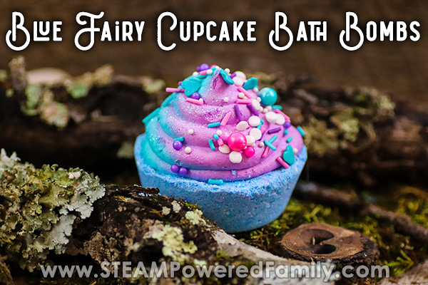 Blue Fairy Cupcake Bath Bombs