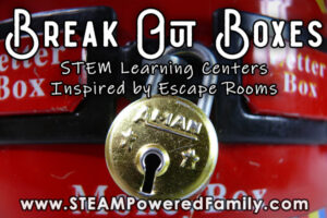 Break out boxes escape room inspired Learning center activities