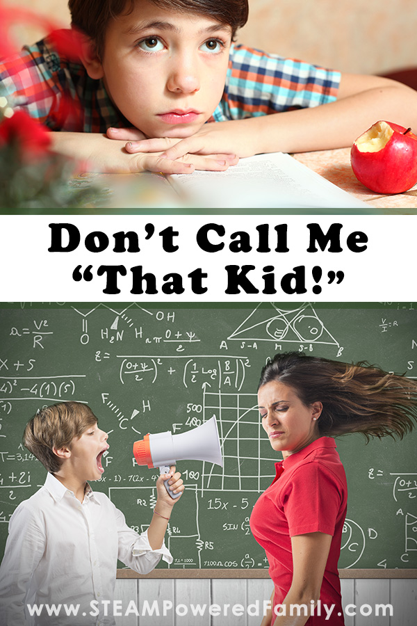 Upset child and a child yelling at a teacher, don't call me that kid