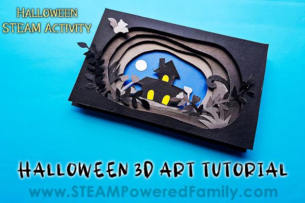 Spooky Halloween 3D Art Project