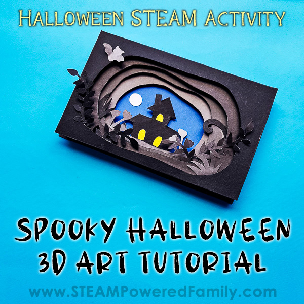 3D Halloween Art Project for Kids