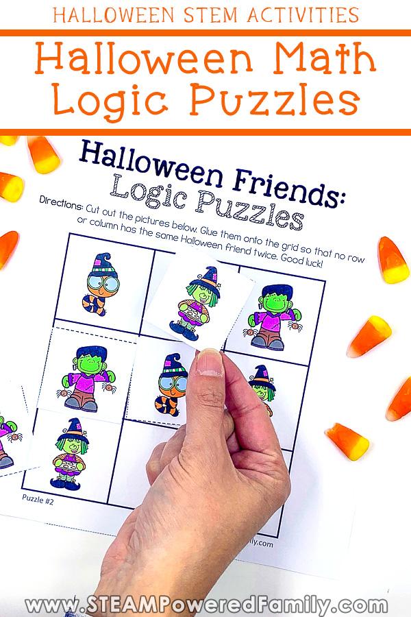 Halloween Math Logic Puzzles - Fun Halloween STEM Activities & Games