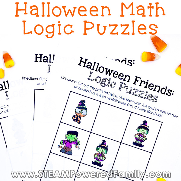 Halloween Math Logic Puzzles - Fun Halloween STEM Activities & Games