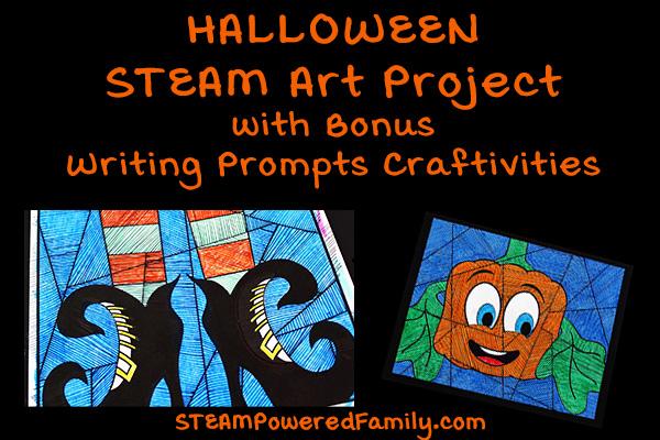 Halloween Art and Math STEAM Project