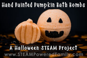 Halloween Bath Bombs for kids Hand Painted Pumpkin Bath Bombs