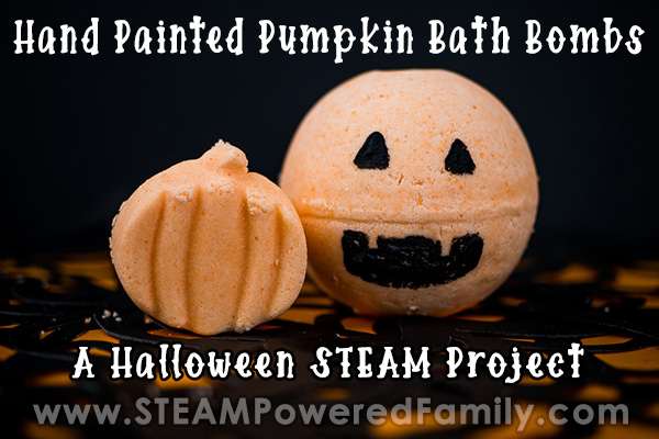 Halloween Bath Bombs for kids Hand Painted Pumpkin Bath Bombs