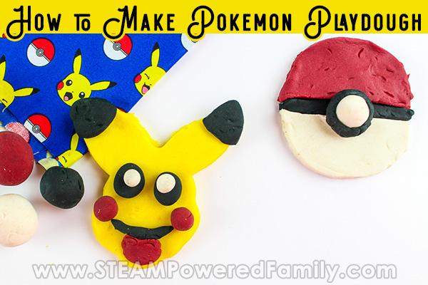 Pokemon Playdough Challenge with easy homemade playdough recipe