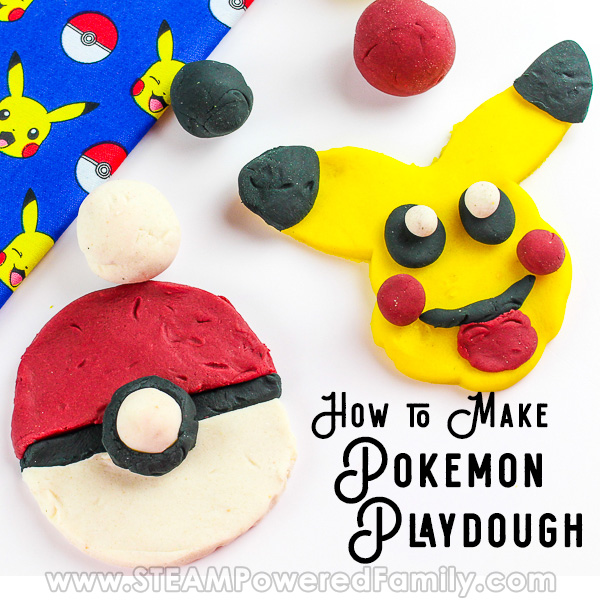 Easy playdough recipe that is highly sculptable for a Pokemon Challenge