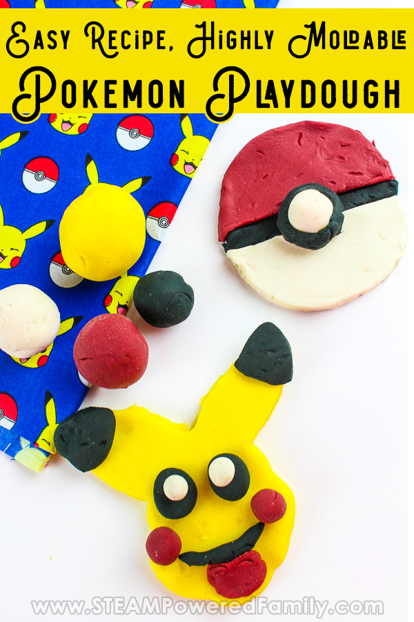 Pokemon Playdough with easy homemade recipe