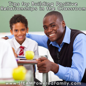 A teacher sits with a student smiling. Tips for Building Positive Relationships in the Classroom
