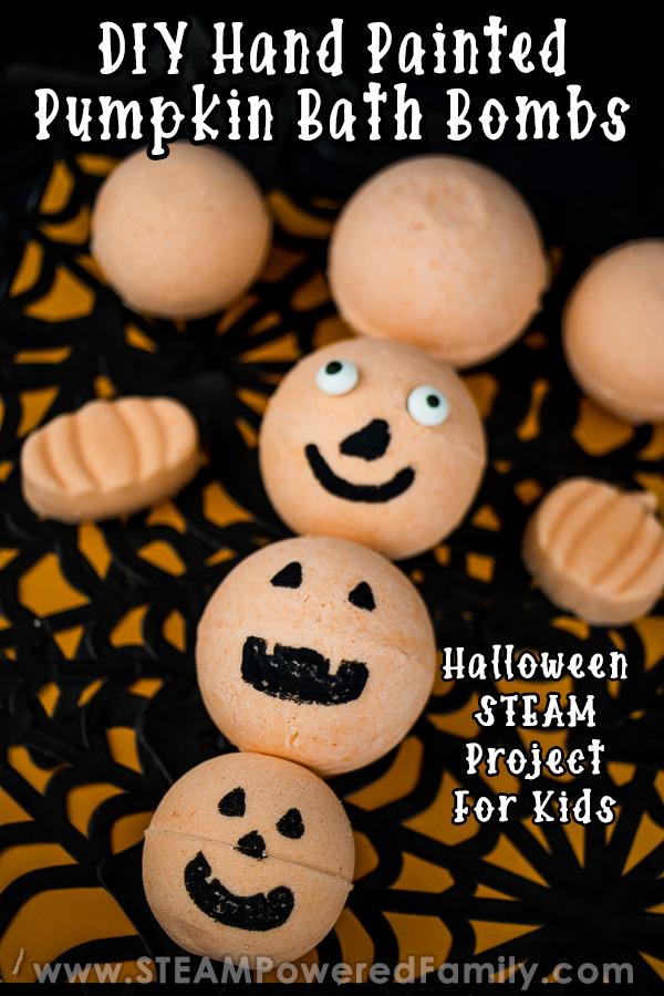 DIY Pumpkin Bath Bombs for Halloween