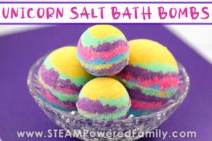 Unicorn Salt Bath Bombs For Kids