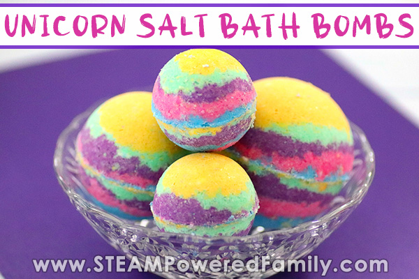Unicorn Salt Bath Bombs For Kids