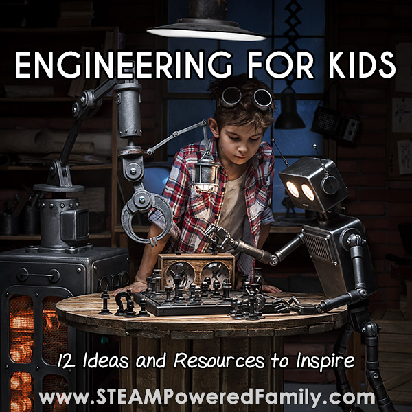 Boy engineering and building a robot playing chess. Overlay Engineering for Kids 12 resources and ideas for students