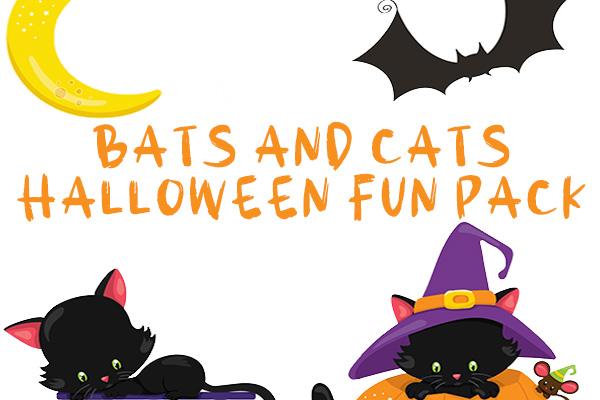 Bats and Cats at Halloween