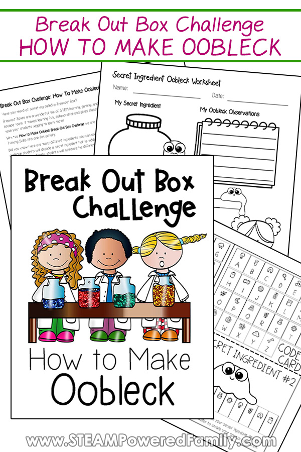 Break Out Boxes Challenge for Classrooms How to Make Oobleck