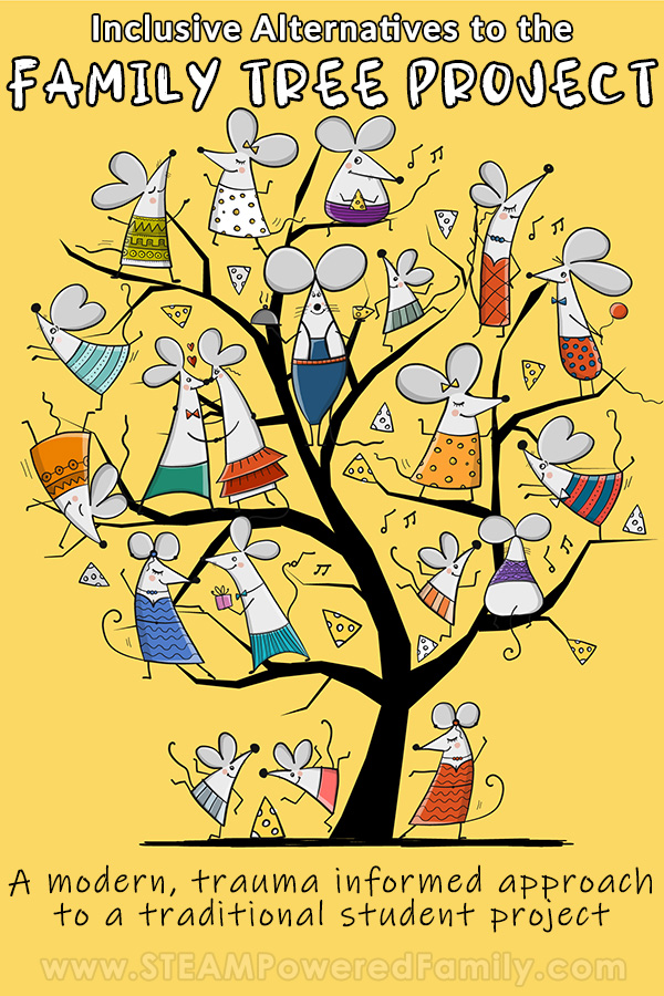 Trauma informed inclusive options to the traditional family tree project