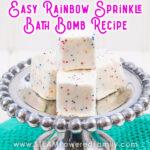 Rainbow sprinkle bath bomb cubes