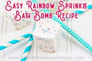 Rainbow Sprinkle Bath Bomb Cube Fizzies for Kids