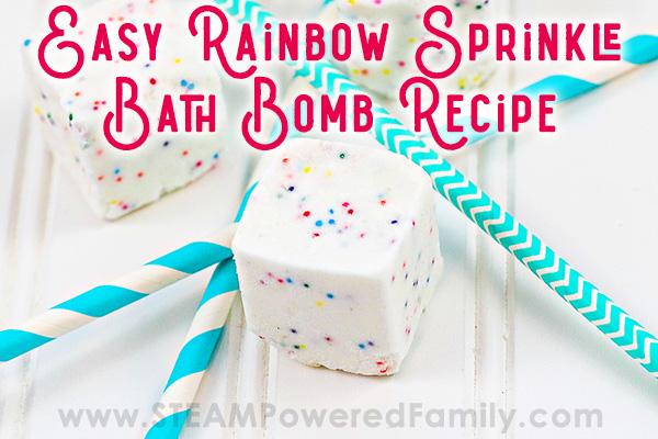 Rainbow Sprinkle Bath Bomb Cube Fizzies for Kids