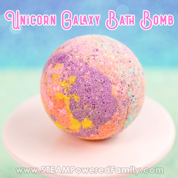 Unicorn galaxy bath bomb