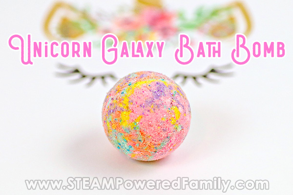 Unicorn Galaxy Bath Bomb Recipe