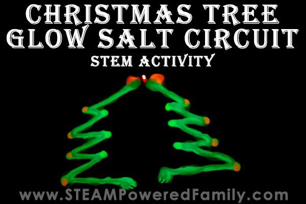 Christmas STEM Glow Salt Circuit
