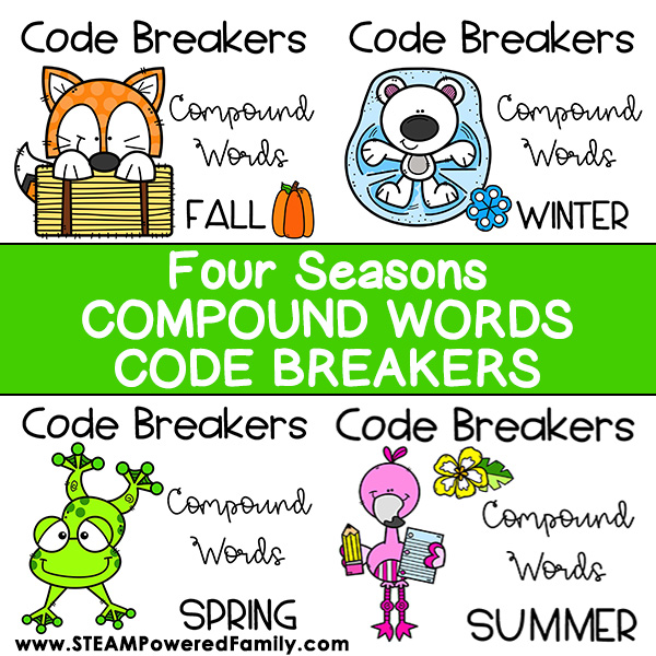 Four Seasons Code Breakers Compound Words Challenge