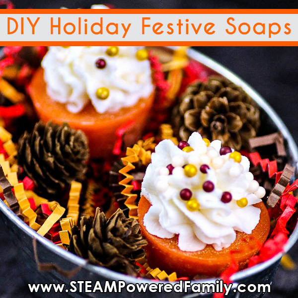 Pumpkin Pie Homemade Soaps with Whipped topping