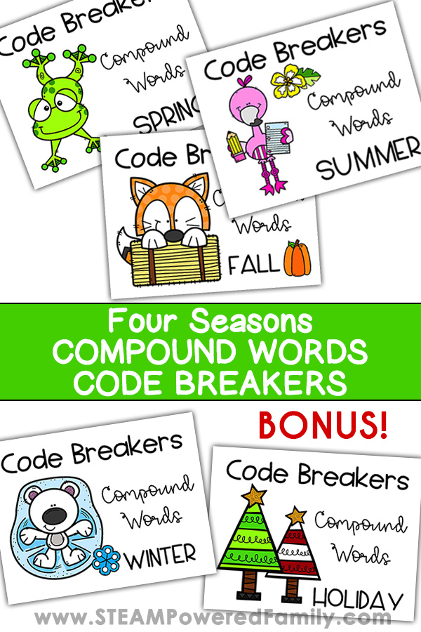 Code Breakers Four Seasons Compound Words Challenge