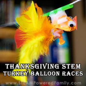 Turkey Balloon Races Thanksgiving Physics STEM