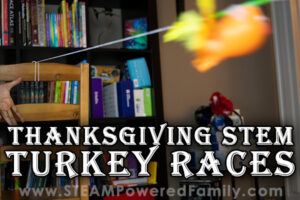Turkey Races for Thanksgiving with Balloons