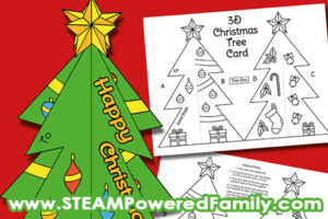 3D Christmas Tree Card that Stands Free Printable