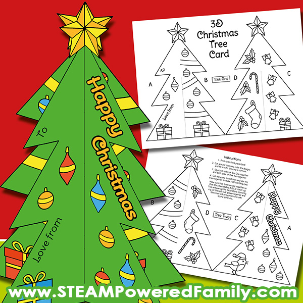 Standing 3D Christmas Card Craft