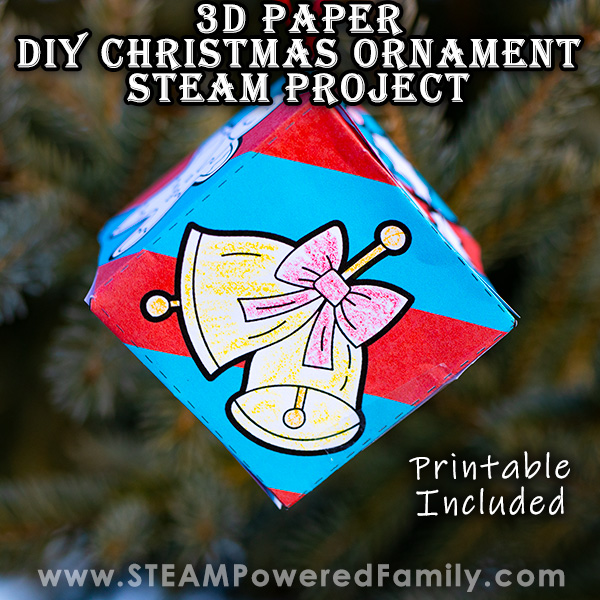 Paper Engineering STEAM DIY Christmas Ornament Hanging on a Tree