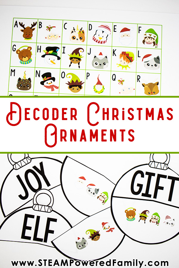 Christmas STEM Activity Decoder Ornament