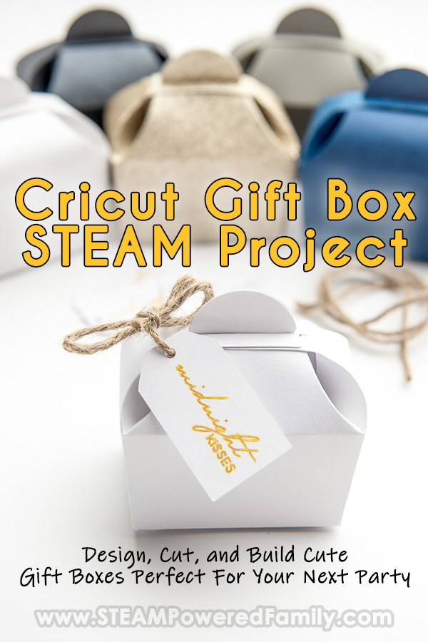 Cricut Project Idea for Teens Gift Boxes