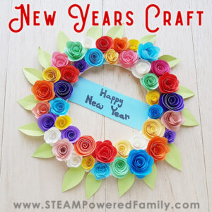 Gorgeous and Vibrant Flower Wreath New Years Craft