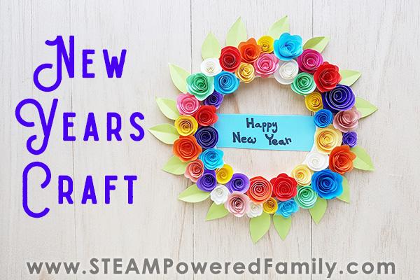 New Years Flower Wreath Craft