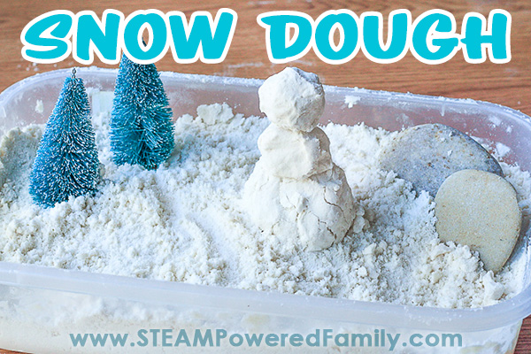 Snow Dough A Winter Variation on our popular moon dough recipe