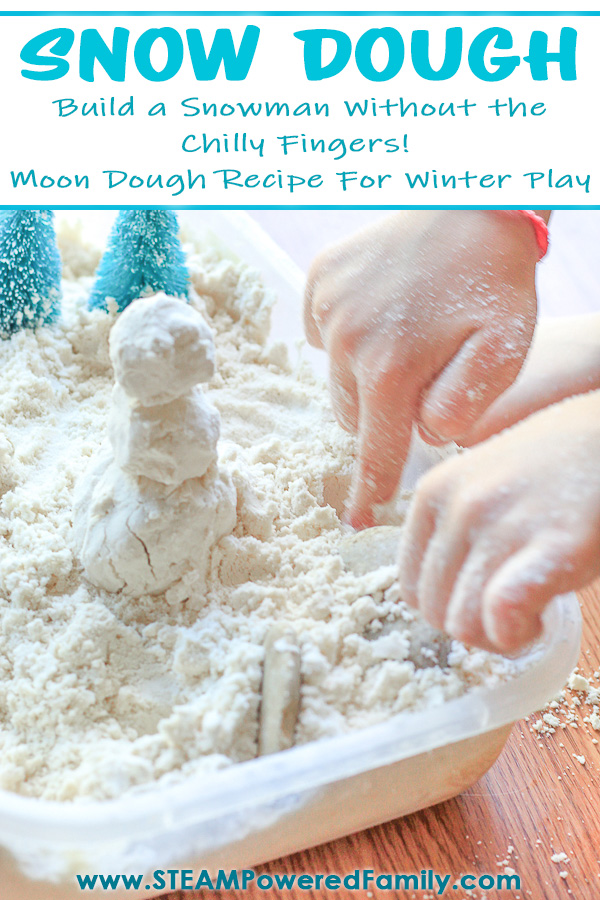 Winter Snow Dough is a Taste Safe, Snowman Building Version of our popular Moon Dough