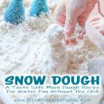 Snow Dough A Winter Moon Dough Snowman Building Activity