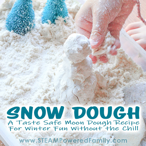 Snow Dough A Winter Moon Dough Snowman Building Activity