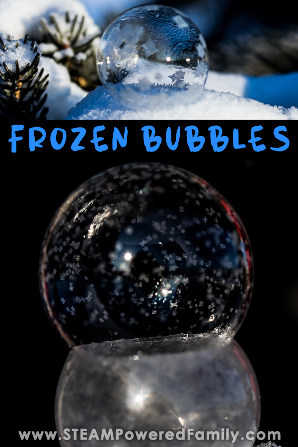 The secret behind frozen bubbles