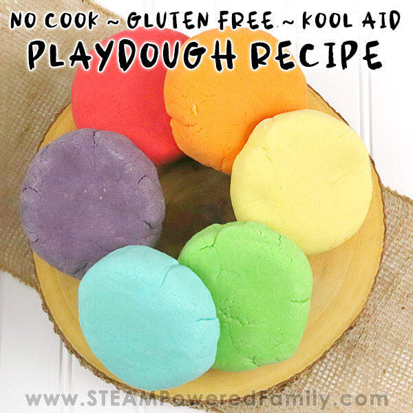 No Cook Gluten Free Kool Aid Playdough Recipe