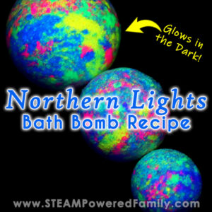 Northern Lights Glow in the Dark Bath Bombs