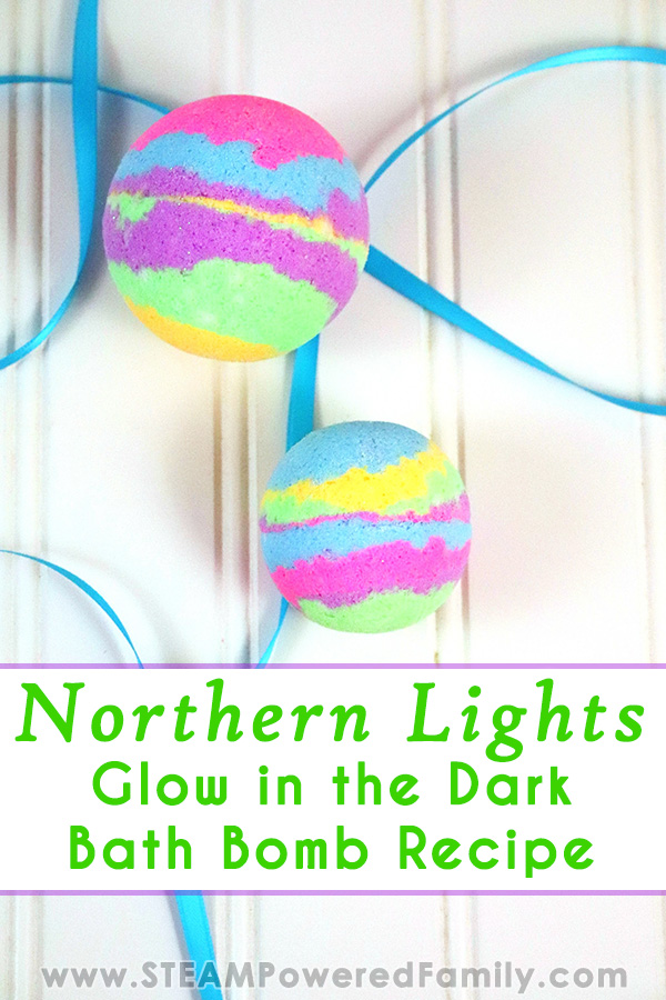 Northern Lights Bath Bombs that Glow