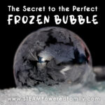 The secret behind making frozen bubbles