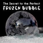 The secret behind making frozen bubbles