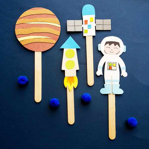 Space Puppet Craft and Writing Challenge